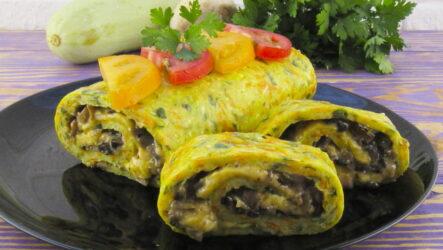 Как из кабачков сделать аппетитный рулет — 8 рецептов с начинками