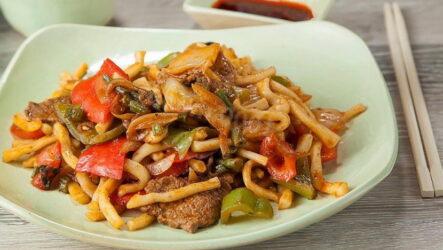 Узбекский жареный лагман — 6 рецептов, как приготовить дома