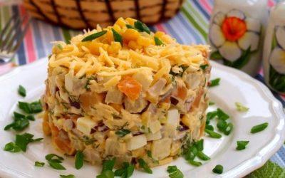 8 оригинальных рецептов салата с копченым сыром — пошаговые фото