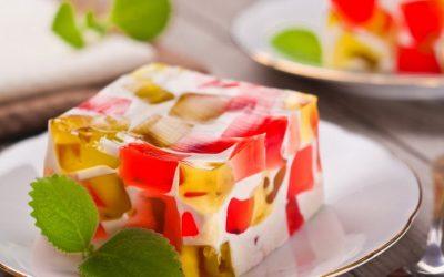 Яркий торт Битое стекло— 8 рецептов желейного десерта