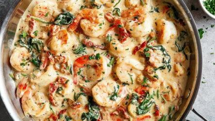 Креветки в чесночном соусе — 7 подробных рецептов приготовления с фото