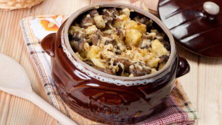 Мясо в горшочках с грибами — 8 сытных рецептов