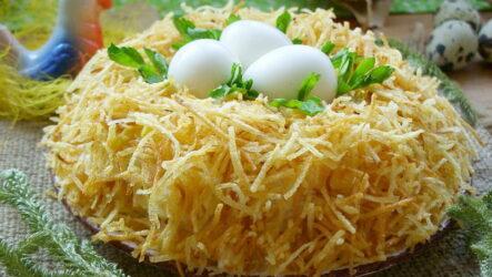 Гнездо глухаря — 8 пошаговых рецептов вкусного салата