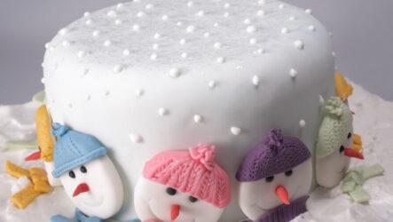 Фото-идеи: как украсить Новогодний торт 2021