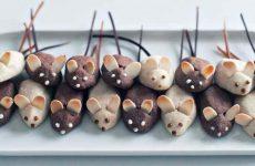 Печенье на Новогодний стол в виде Мышек и Крысок — 6 рецептов с фото