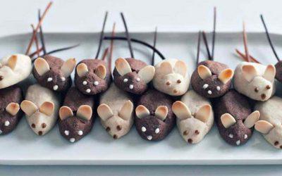 Печенье на Новогодний стол в виде Мышек и Крысок— 6 рецептов с фото