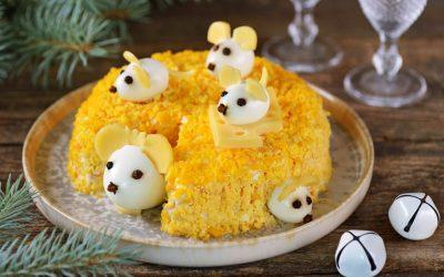 Салат в виде Мышки или Крысы — 10 рецептов на Новый год-2020