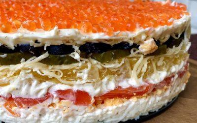 Салат Русалочка — 7 праздничных шикарных рецептов