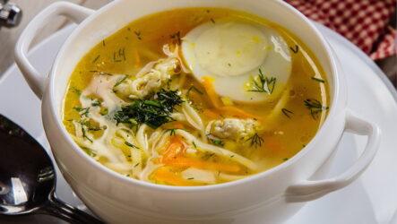 Суп с яичной лапшой — 8 отличных рецептов для семейного обеда