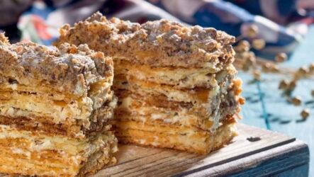 Наполеон со сгущенкой — 7 рецептов, как приготовить тортик дома