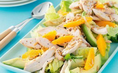 Салат с апельсином и курицей— 8 самых вкусных рецептов