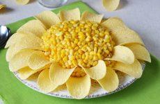 Салат Ромашка — 8 оригинальных рецептов