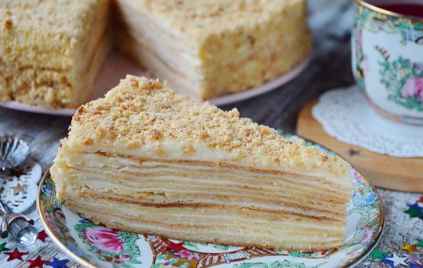 Советский торт Наполеон классический