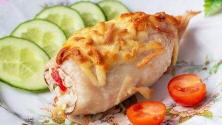 Кальмар, фаршированный крабовыми палочками — 6 рецептов закуски на праздник