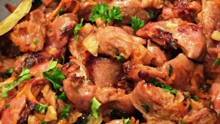 Готовлю куриные желудки в мультиварке — 7 рецептов с фото