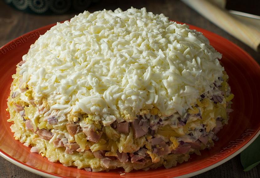 Салат Невеста с плавленным сыром