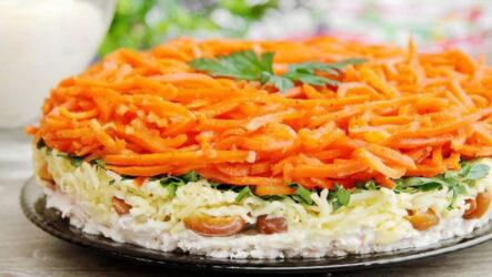 Салат Восторг с корейской морковью — 6 лучших и любимых рецептов