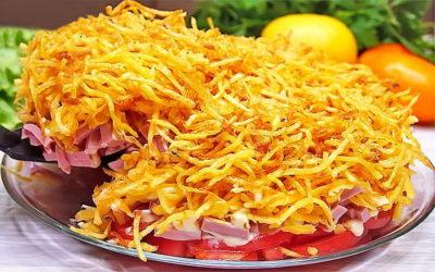 Салат с картофельной соломкой— 7 оригинальных рецептов