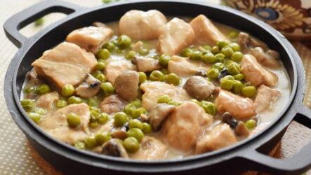 Фрикасе с грибами — 7 рецептов из прекрасной Франции
