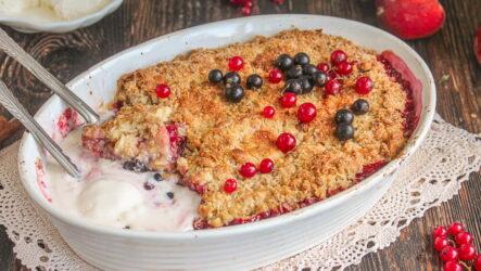 Овсяный крамбл — 7 фото-рецептов для сладкого завтрака