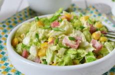 Салат с капустой и ветчиной — 8 замечательных легких рецептов