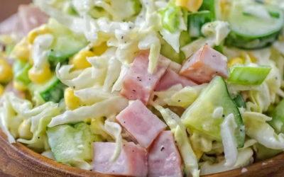 Салат с ветчиной и огурцом — 8 рецептов на праздничный стол