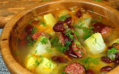 Суп с колбасой и картошкой — 7 простых классных рецептов с фото