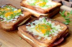 Бутерброды с яйцом на сковороде — 8 рецептов для завтрака за 5 минут