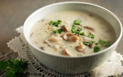 Грибной сливочный суп — 7 самых нежных ароматных рецептов