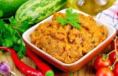 Кабачковая икра на сковороде — 6 быстрых и простых рецептов