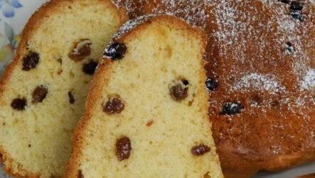 Пирог с изюмом — 9 рецептов на любой вкус