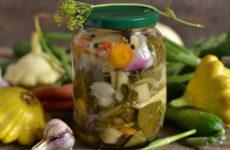 Салат из патиссонов — 7 рецептов заготовок на зиму
