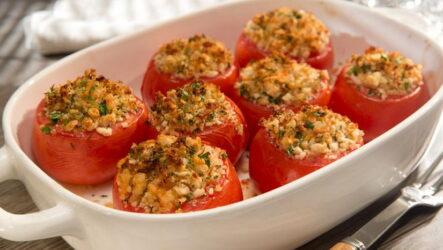 Фаршированные помидоры с мясным фаршем в духовке — 7 любимых рецептов