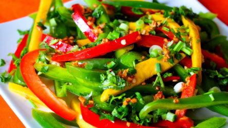 Быстрый салат с перцем — 8 классных и простых рецептов