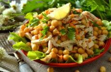 Салат с нутом — 10 разнообразных рецептов