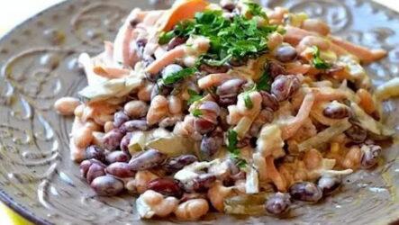 Обжорка с фасолью — 6 рецептов, как приготовить простой салат