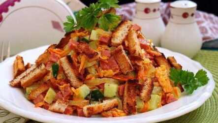 Обжорка с колбасой — 7 рецептов простого и сытного салата