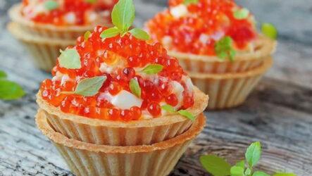 Салат Царский с красной икрой — 7 шикарных рецептов