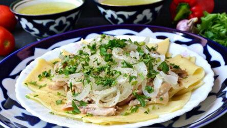 Бешбармак из курицы — 7 домашних фото-рецептов