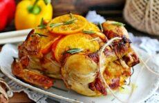 Курица с апельсинами в духовке целиком — 7 шикарных рецептов