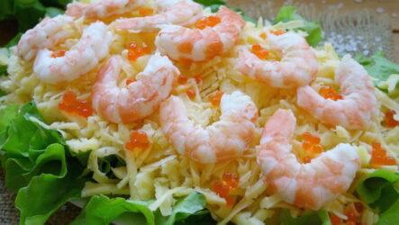 Салат Царский с креветками — 7 рецептов с морепродуками
