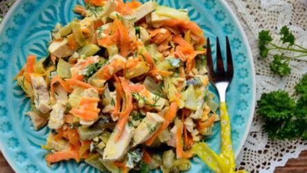 Салат Обжорка с курицей — 6 простых и вкусных рецептов