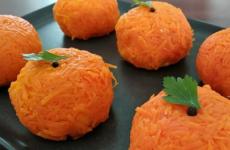 Салат в виде мандарина — 7 рецептов оригинальной закуски