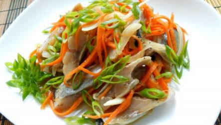 Селедка хе — 8 рецептов корейской закуски