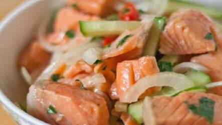 Хе из горбуши — 7 рецептов корейской закуски с фото