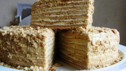 Медовик на сковороде — 7 рецептов, как быстро сделать любимый торт