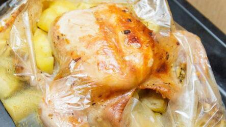Курица в рукаве целиком — 7 рецептов сочного блюда