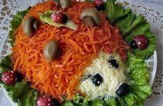 Салат Ежик — 7 рецептов на праздничный стол