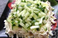 Салат Нежность с огурцом — 8 пошаговых рецептов с фото