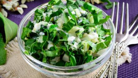 Салат с черемшой и огурцом — 8 свежих ярких рецептов